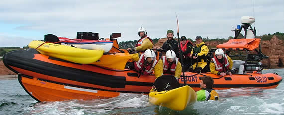 Sidmouth Lifeboat and crew